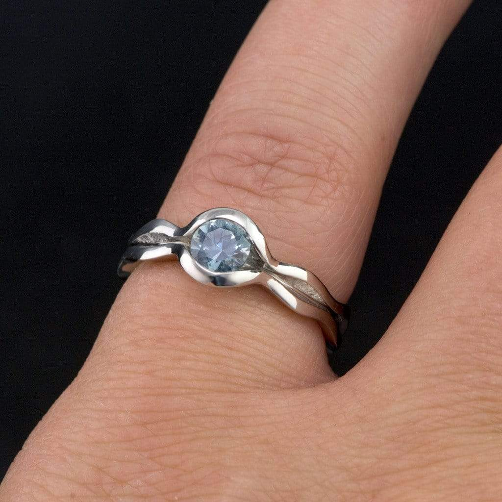 Blue Montana Sapphire Engagement Ring