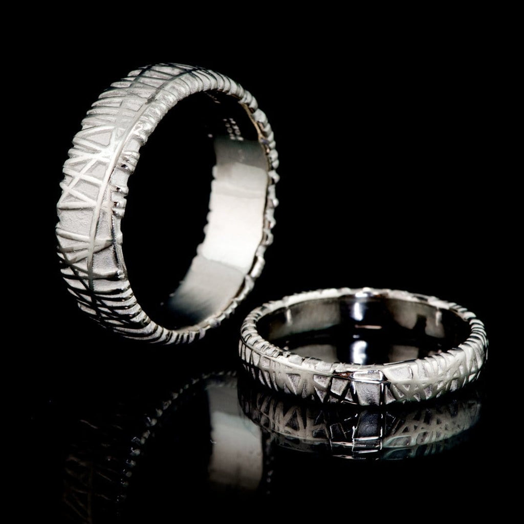 sizes and ring bands set brushed hers band recycled made rings wedding his yellow media in your flat platinum gold