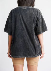 The Acid-Wash Tee - Dusted Charcoal