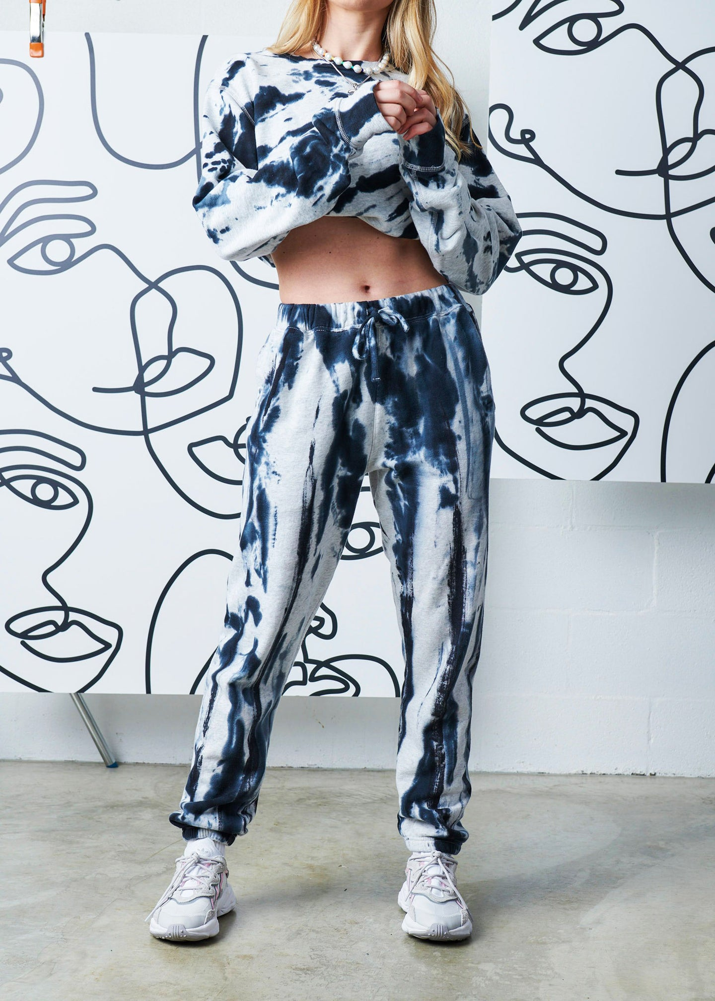 The Tie-Dyed Track Pant - Stormy