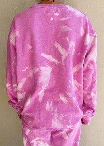 The Oversized Tie-Dye Crew - Candy Pink