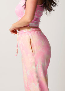 The Track Pant - Strawberry Peach Gelato