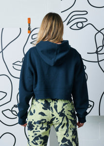 The Cropped Hoodie - Navy