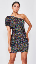 Load image into Gallery viewer, The Multi Sequin One-Shoulder Dress