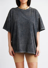 Load image into Gallery viewer, The Acid-Wash Tee - Dusted Charcoal