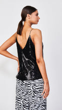 Load image into Gallery viewer, Black Sequin Camisole