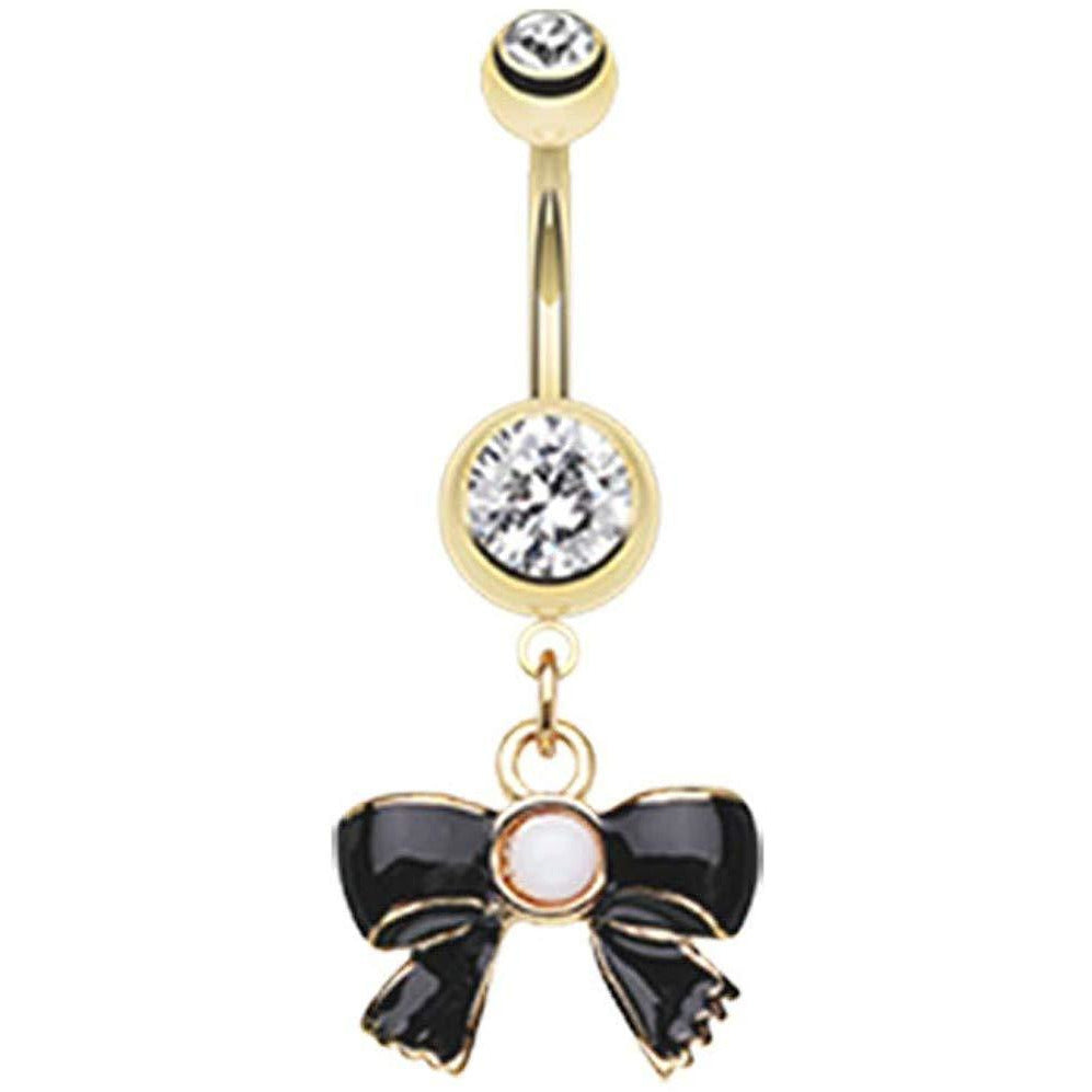 - Sold Individually Elegant Bejeweled Cascading Belly Button Ring 14 GA 1.6mm