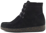 Nature Footwear, Asta Rubber Sole - Black Suede