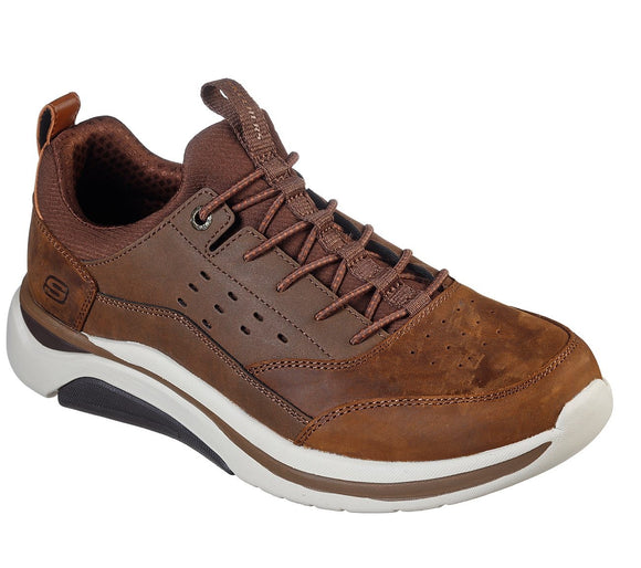 Skechers, Relaxed Fit Delamo - Brun
