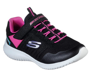 Skechers, Ultra Flex Waterproof - Sort/Pink