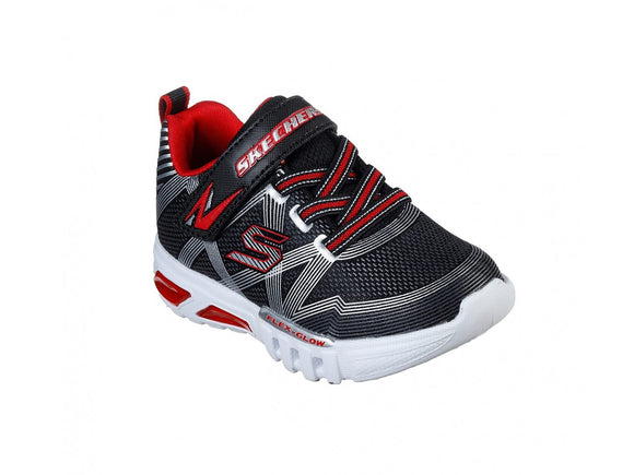 Skechers, Boys Flex-Glow - Black/Red