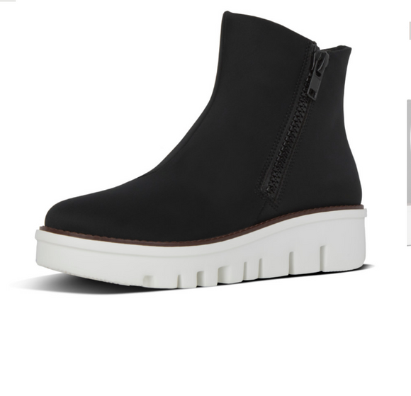 Fitflop, Chunky Zip Ankle Boot - Black
