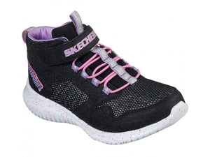 Skechers, Ultra Flex - Black/Lavender/Pink