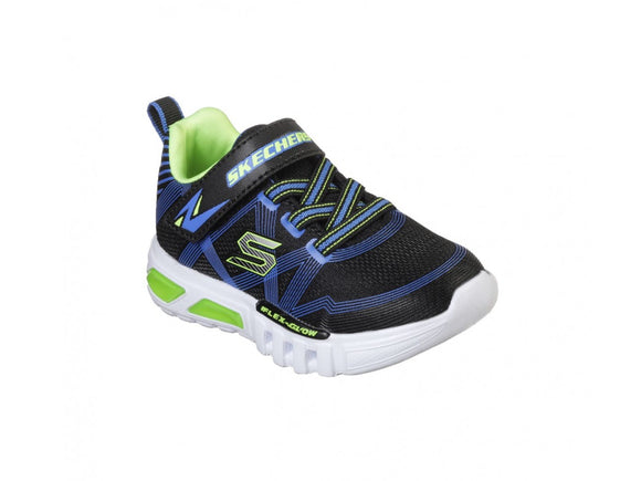 Skechers, Flex-Glow - Black/Lime