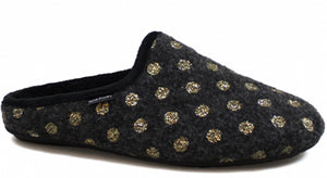 Home Slippers - Grey Gold