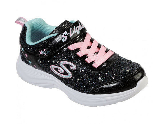 Skechers, Glimmer Kicks Blinkesko - Sort