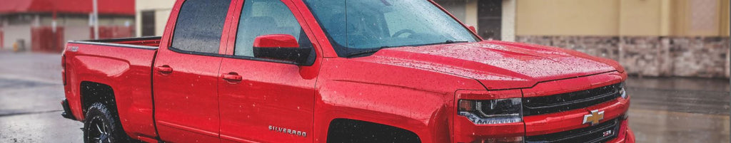 Silverado red truck with throttle response controller