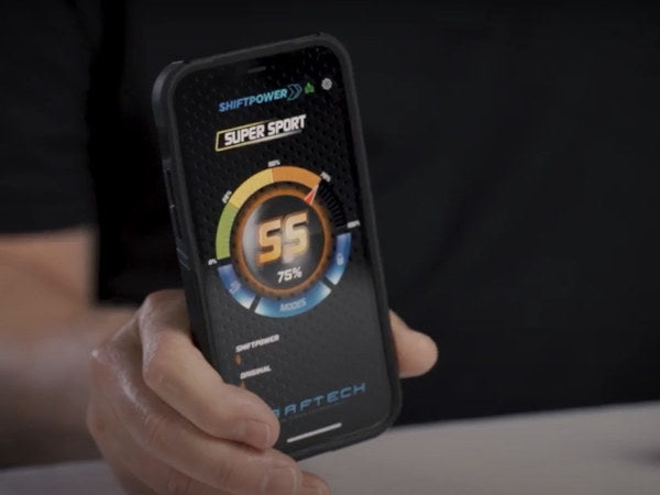 Use your Android or iOS smartphone to control the Shiftpower device