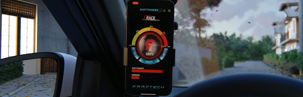 Throttle response modes set with smart phone by shiftpower