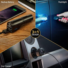 Load image into Gallery viewer, 3-in-1 Power bank with Emergency Flashlight GoBat™ 2600