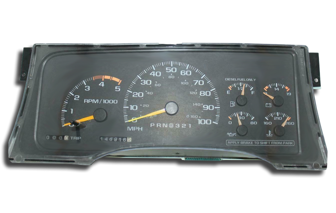 1997 - 1999 Chevy Kodiak C1500 C2500 C3500 - Instrument Cluster Repair