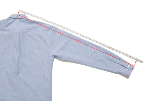 Tops: How we measure the sleeve length