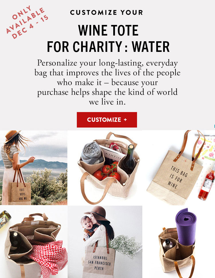 Wine tote for charity:water