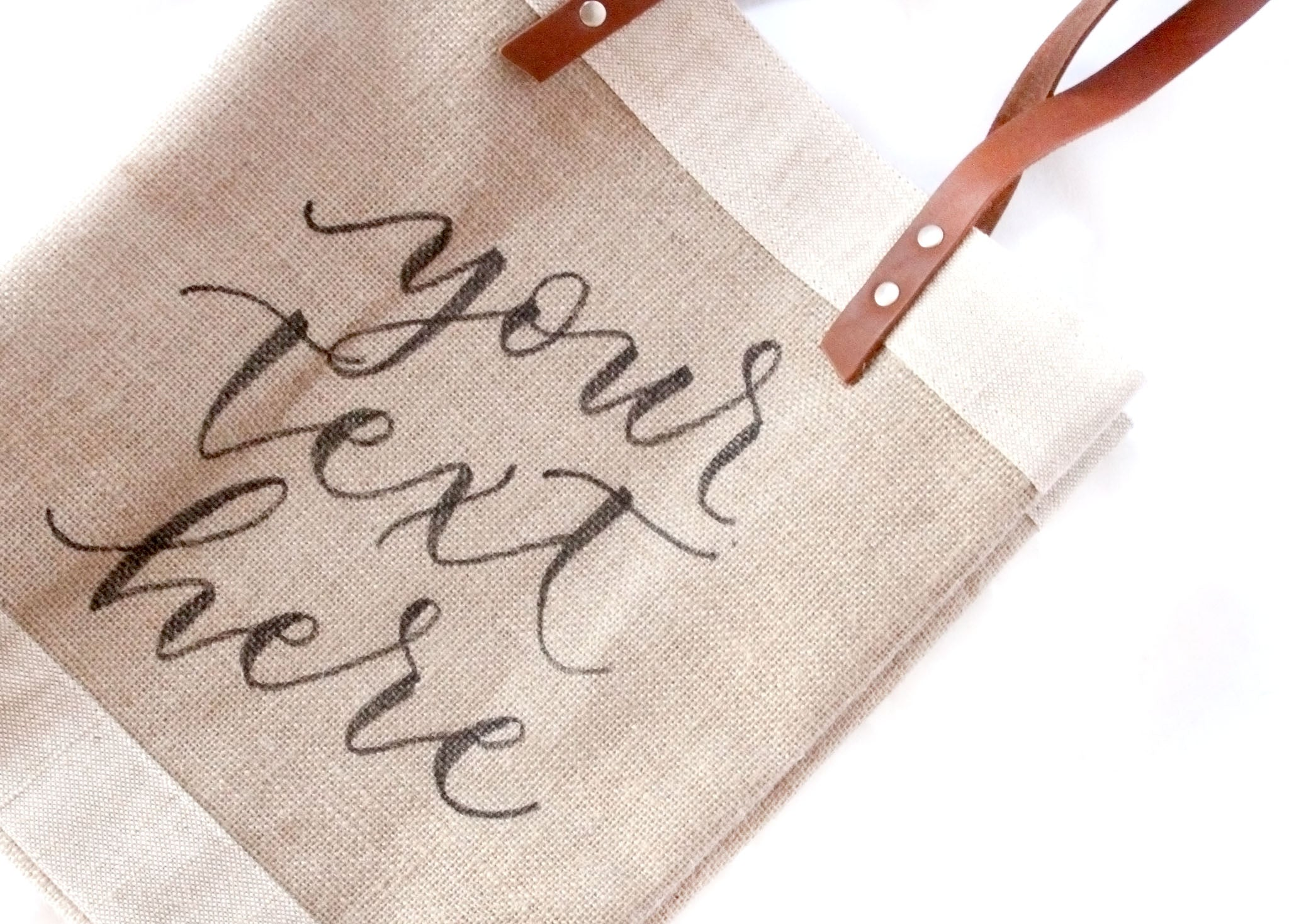 Collaboration: Customizable Long-Handle Calligraphy Tote, Available August 18th