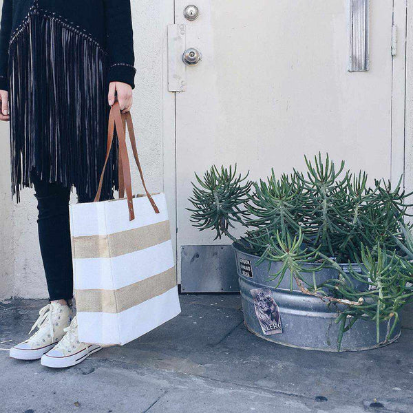 Striped Standard Tote