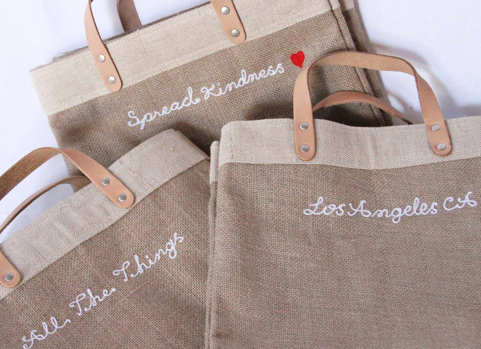 Customizable Embroidered Market Bag
