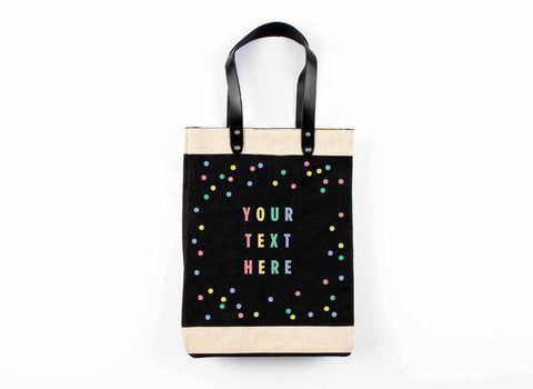 Customize Your Oh Joy! + Apolis Tote Market Bag in Black for Baby2Baby®