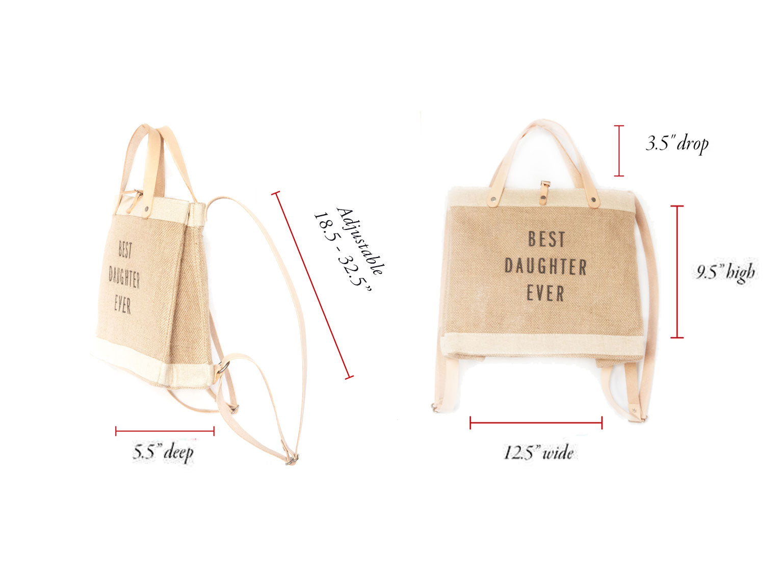 Customize Your Petite Market Backpack