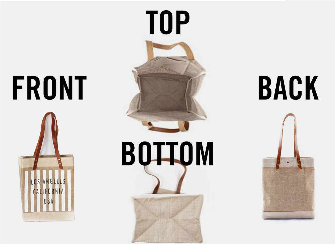 Customize Your Striped Long Handle Tote in White