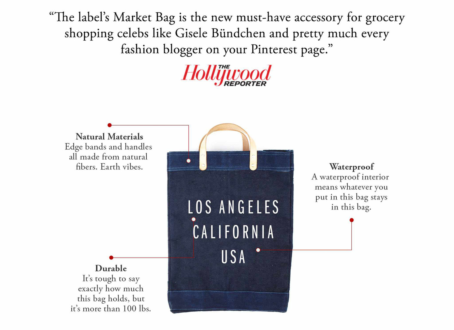 Customize Your Dark Indigo Market Bag