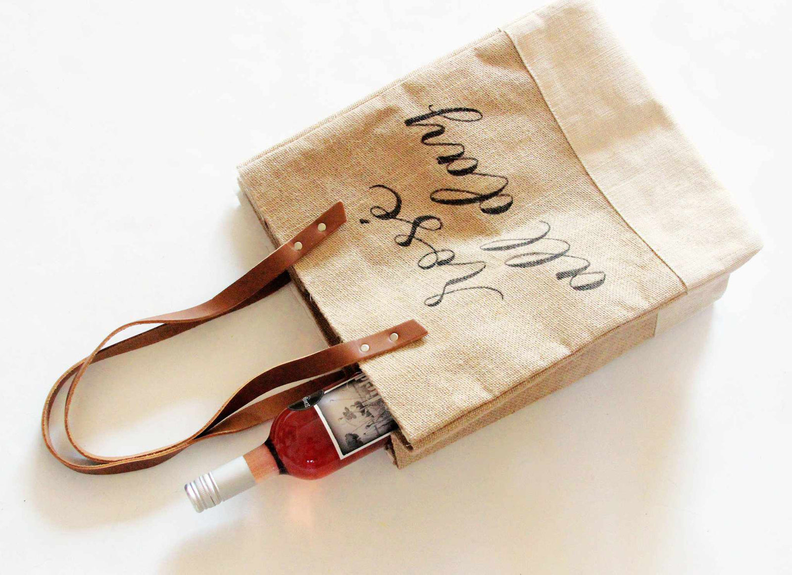 Apolis + Crooked Calligraphy Customizable Wine Tote