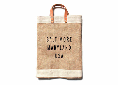 Baltimore City Series Market Bag