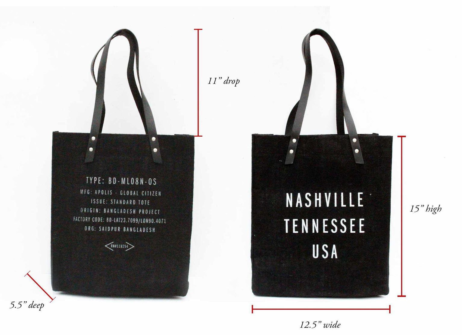 569dc964705 Customize Your Standard Tote in Black