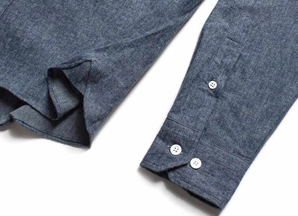 Indigo Flannel Button Down