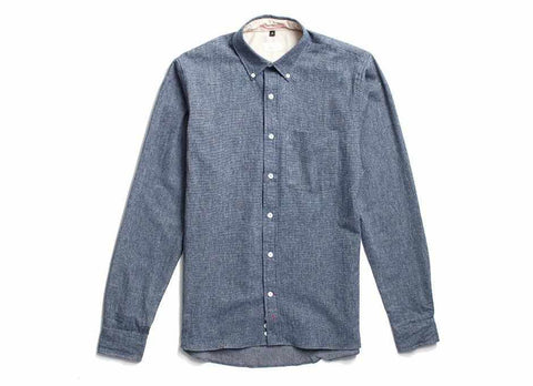 Indigo Flannel Button Down, Indigo