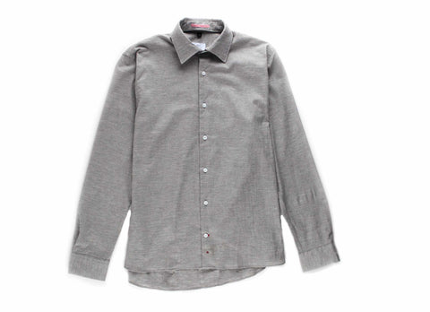 Japanese Organic Cotton Oxford Transition Shirt, Heather