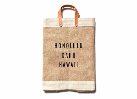 Honolulu Hawaii City Series Market Bag