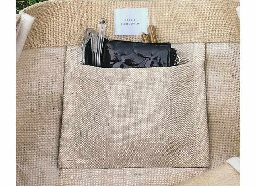 Customize Your Vegan Market Bag: 100% Leather-Free in Black - Standard Font