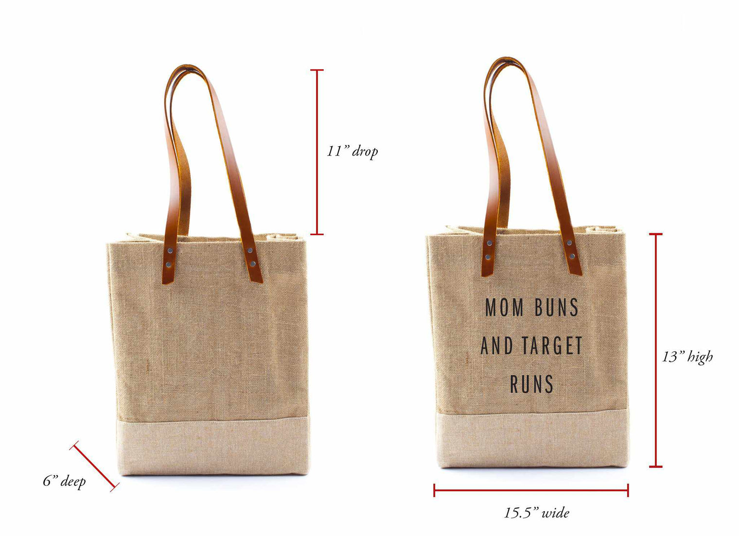 'Mom Buns And Target Runs' Wine Tote