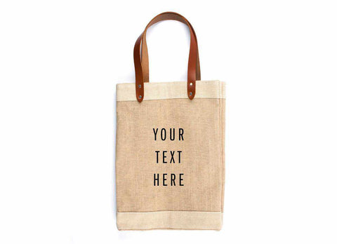 Customize Your Tote Market Bag, Black Print