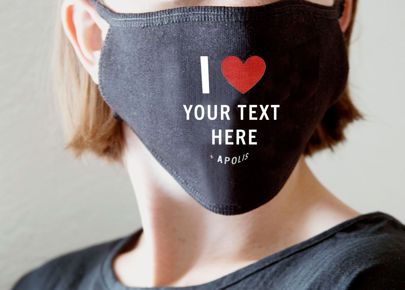 "Custom ""I Heart"" Non-Medical Adult Face Mask - Wholesale"
