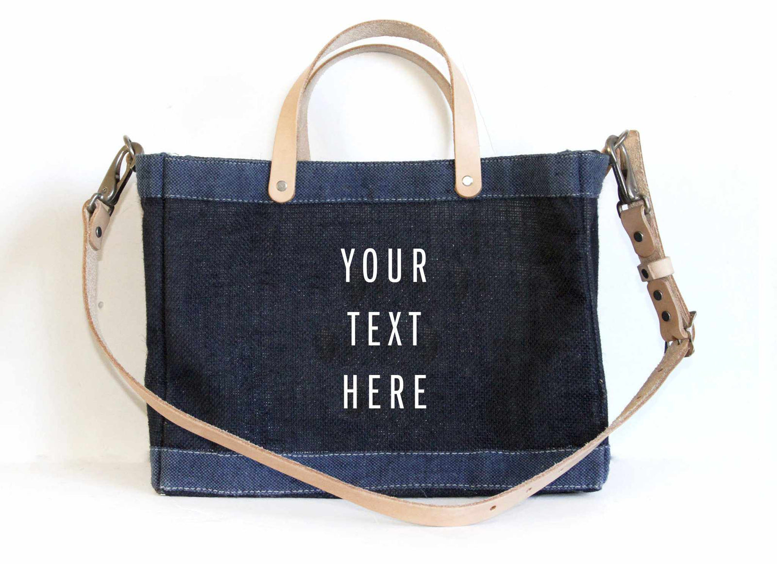 Customize Your Detachable Handle Dark Indigo Petite Bag
