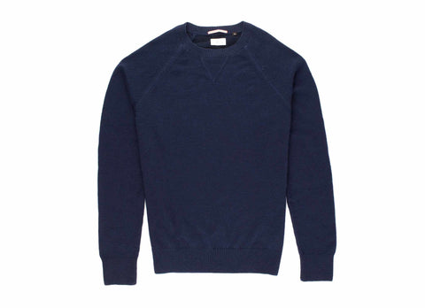 Alpaca Crew Neck Sweater, Navy
