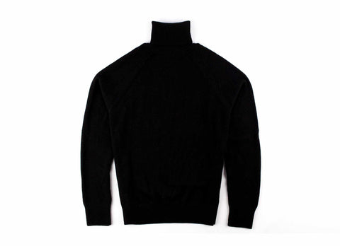 Alpaca Turtleneck Sweater, Black