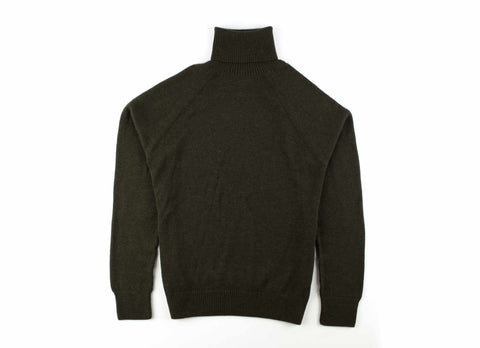 Alpaca Turtleneck Sweater, Olive