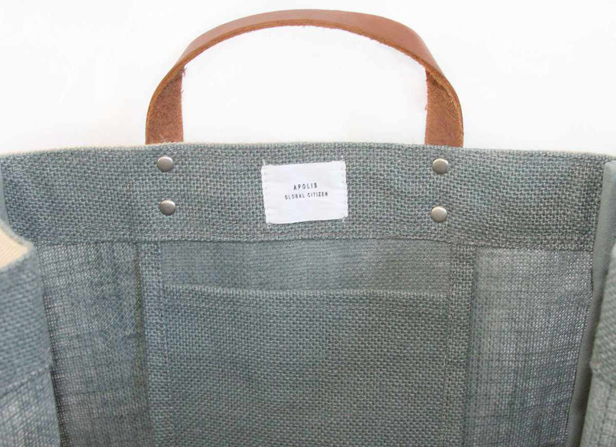 Customized Market Bag in Cool Gray - Wholesale